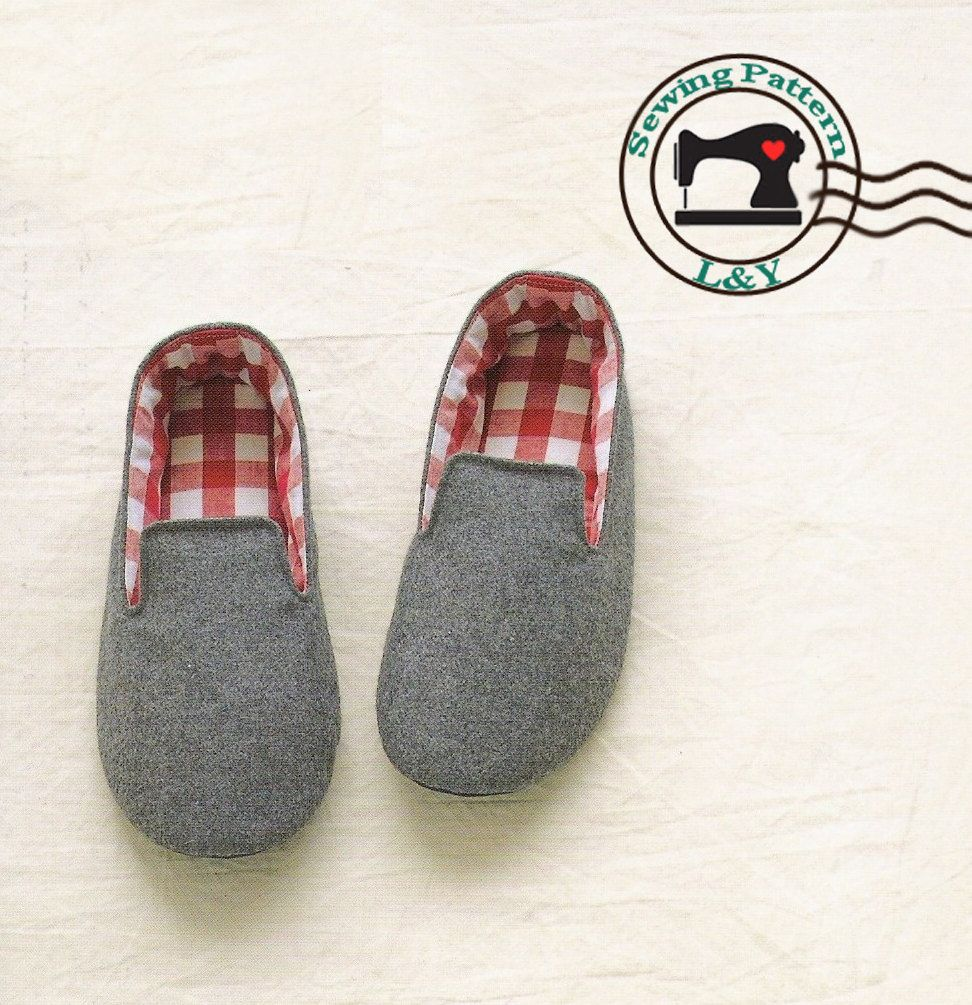 7c3b27d22b386 Woman Indoor Shoes/House Slippers PDF Sewing Pattern, Size 5-11 ...