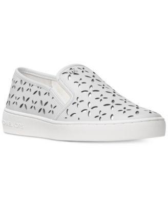 14e9a2651 MICHAEL KORS Michael Michael Kors Keaton Floral Perforated Slip-On Sneakers.  #michaelkors #shoes # all women