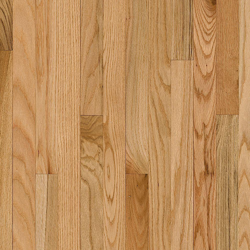 Bruce Plano Oak Country Natural 3 4 In Thick X 2 1 4 In Wide X