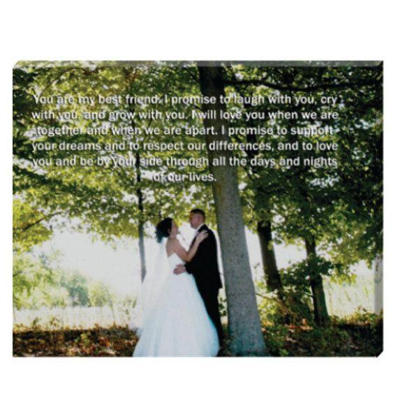 Wedding Vows Canvas.. Could Do Song Lyrics Or A Scripture
