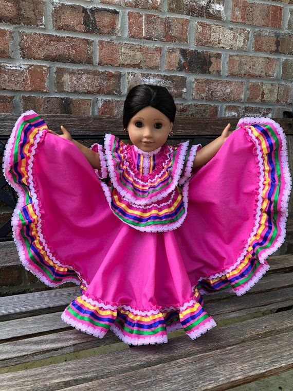 5efbd47c8e13 Traditional Mexican Ballet Folklorico pink Jalisco dress fits 18
