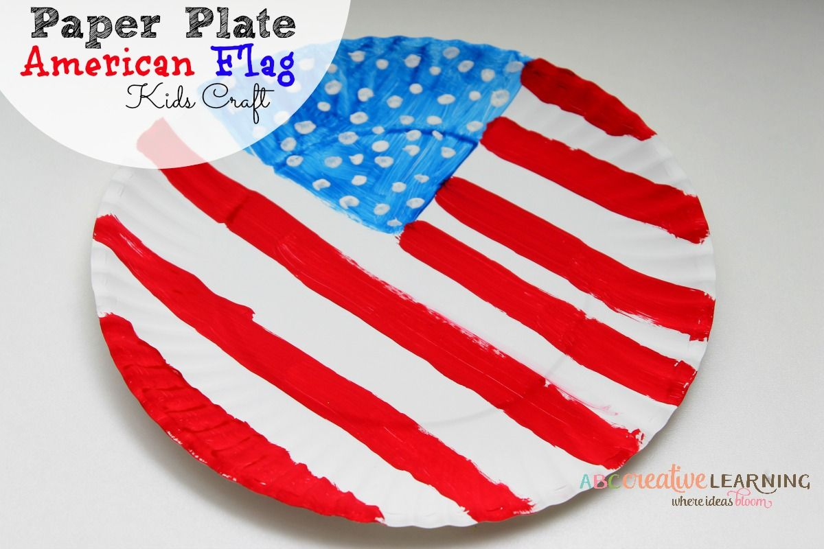 Paper Plate American Flag Kids Craft Kids  sc 1 st  Pinterest & Paper Plate American Flag Craft | Flags Crafts and Educational crafts