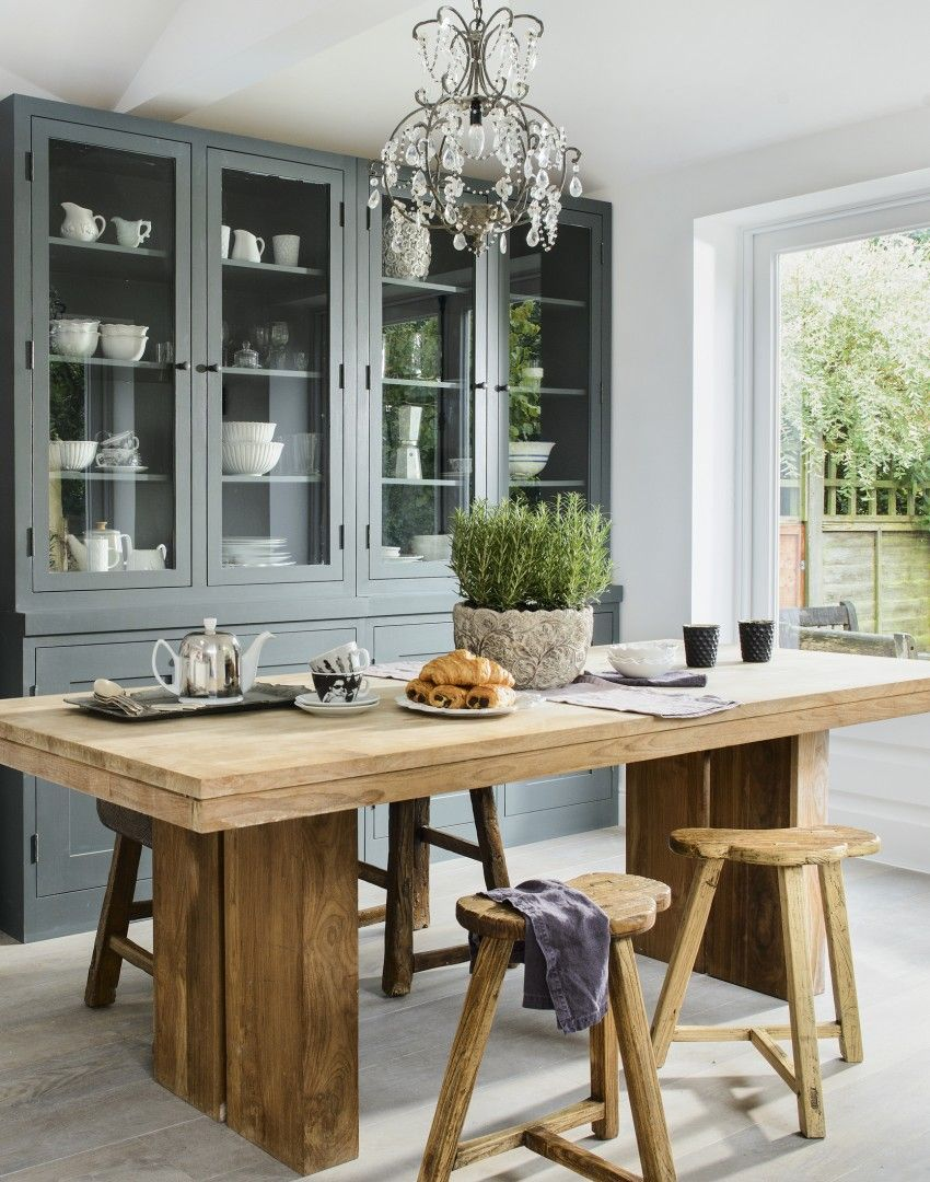 Country Dining Room With Rustic Table And Reclaimed Wood Stools · Wood  StoolStorage IdeasSmart ...