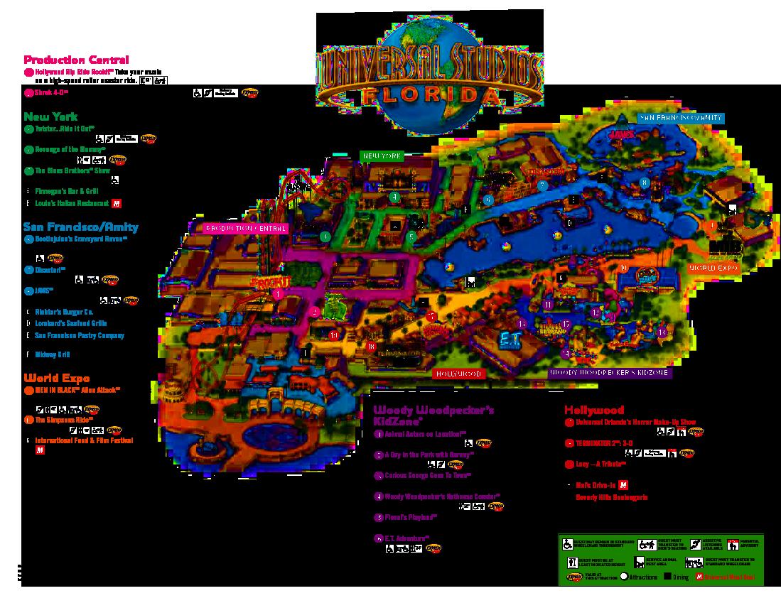 Universal Orlando Florida Map.Universal Orlando Park Map 2013 Orlando Theme Park News Wdw