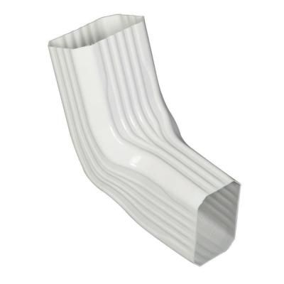Amerimax Home Products 3 In X 4 In A B Transition Elbow 37067 White Vinyl Downspout Vinyl