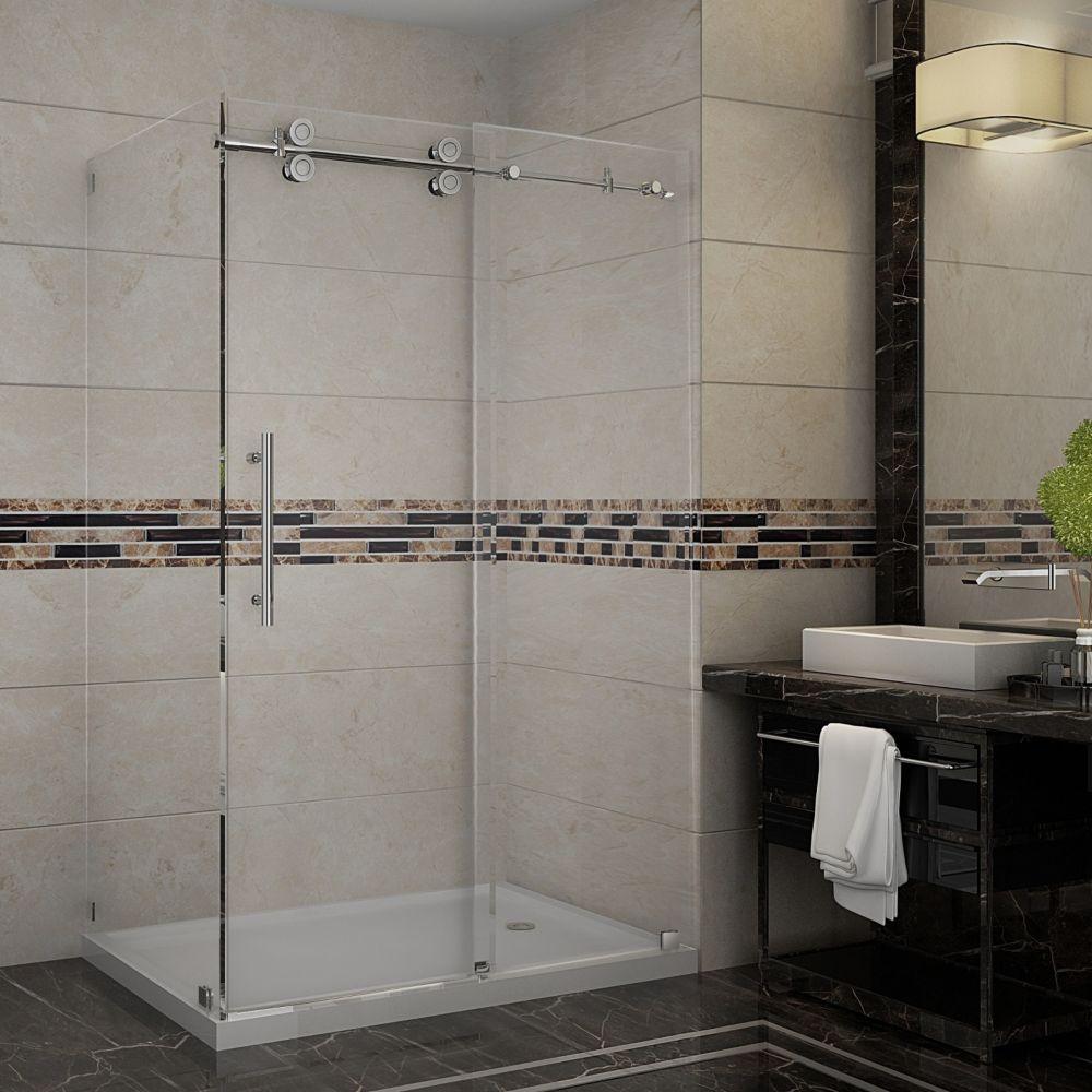 Langham 48 Inch X 35 77 1 2 Frameless Corner Shower Doorssliding