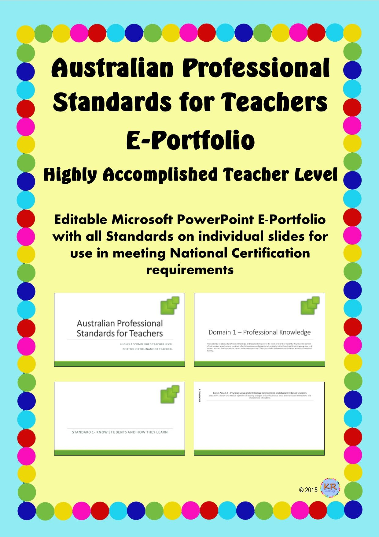 highly accomplished teacher level australian professional standards for teachers e portfolio
