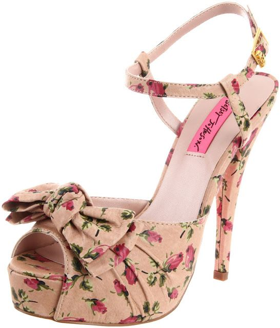 Betsey Johnson Nude Floral Haylie Shoes