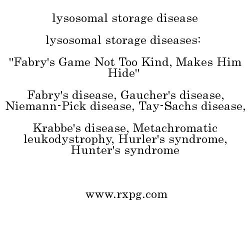 Lysosomal Storage Disease Mnemonics Fabrydisease Fabry Andersonfabrydisease Lysosomalstoragediseases
