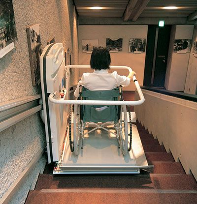 Universal design kreativ cuboid great way to get up and for Wheelchair accessible house plans with elevator