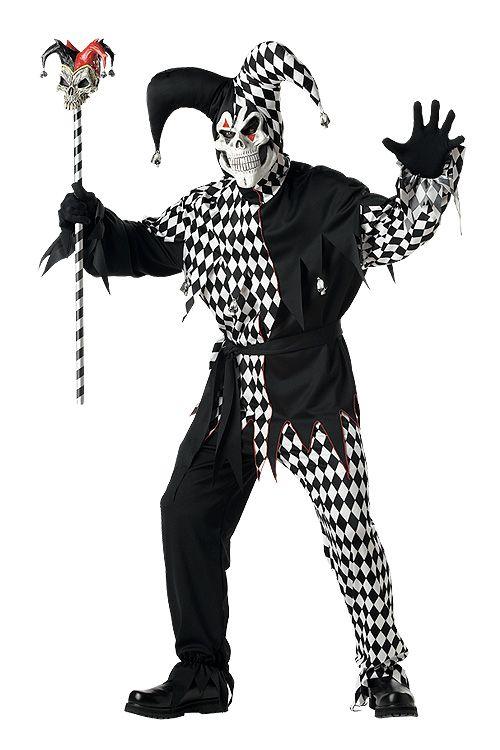 61006a26812 EVIL Court JESTER Renaissance Harlequin Costume Mens