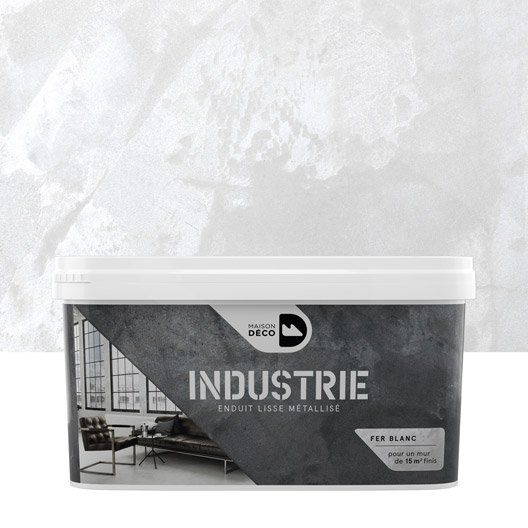 Peinture à effet industrie maison deco fer blanc 4 kg