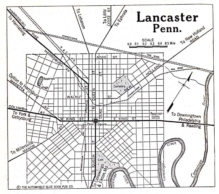 Lancaster, Pennsylvania 1920 Check out the railroad tracks