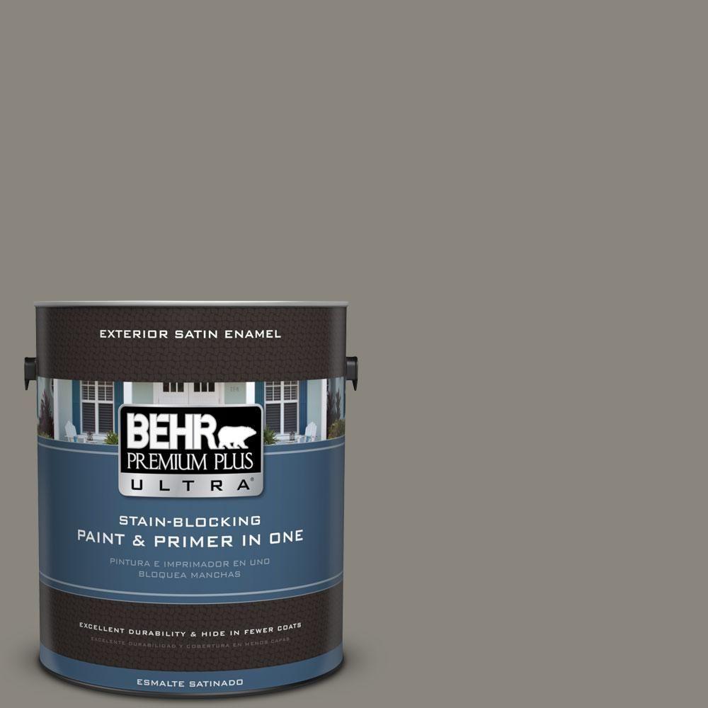 BEHR Premium Plus Ultra 1-gal. #T12-11 Compass Satin Enamel Exterior Paint