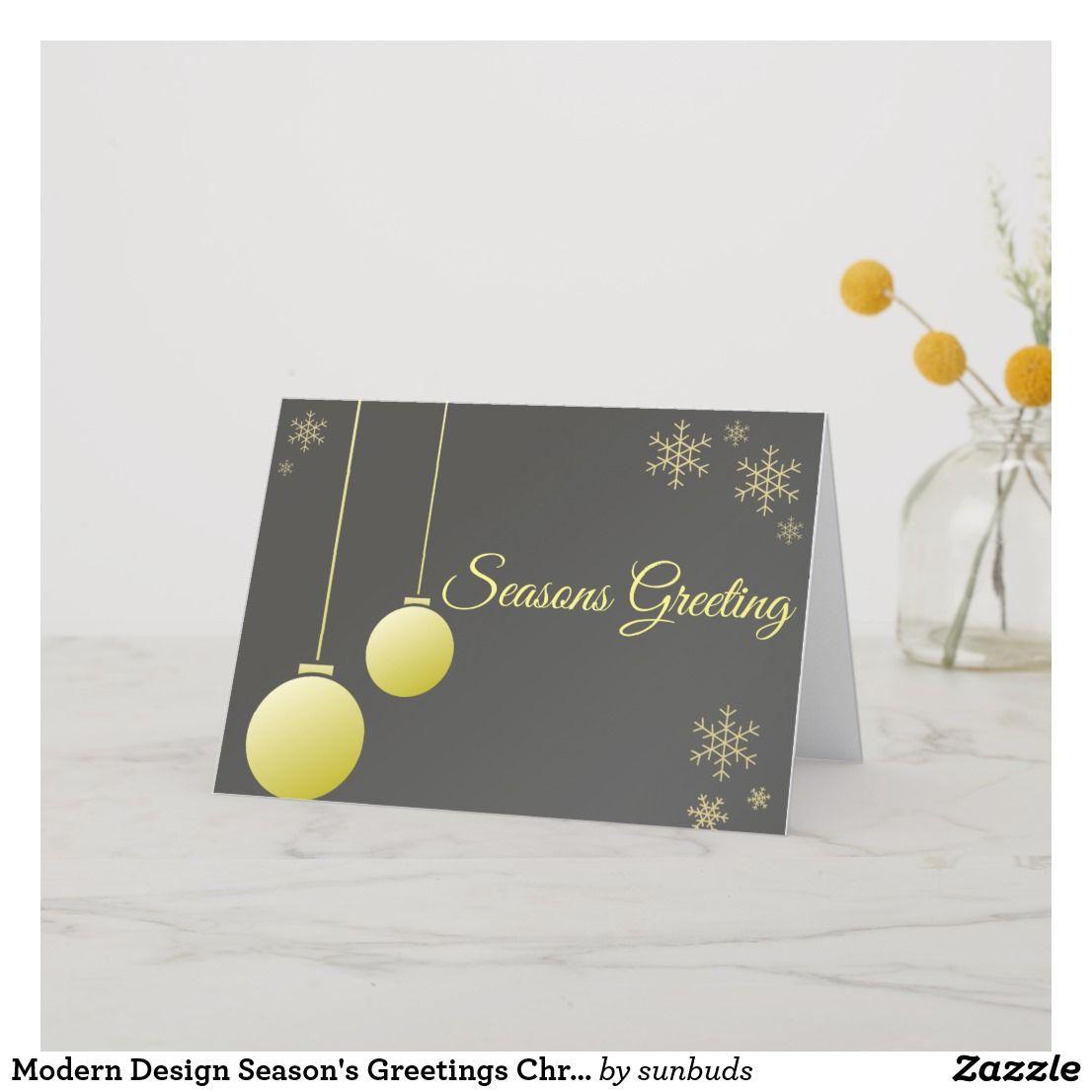 modern design season's greetings christmas card  zazzle