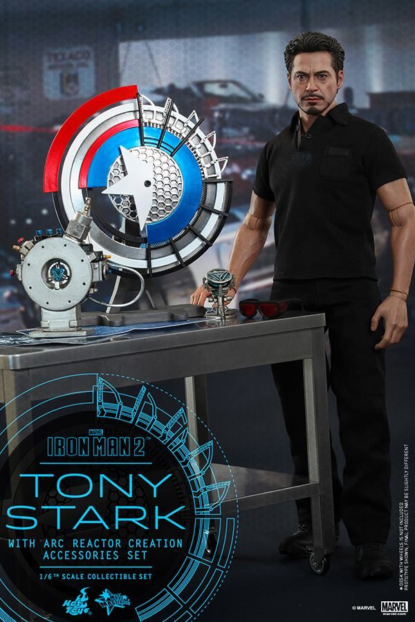 Hot Toys MMS 273 Iron Man 2 – Tony Stark w/ Arc Reactor Creation Accessories – Hot Toys Complete Checklist