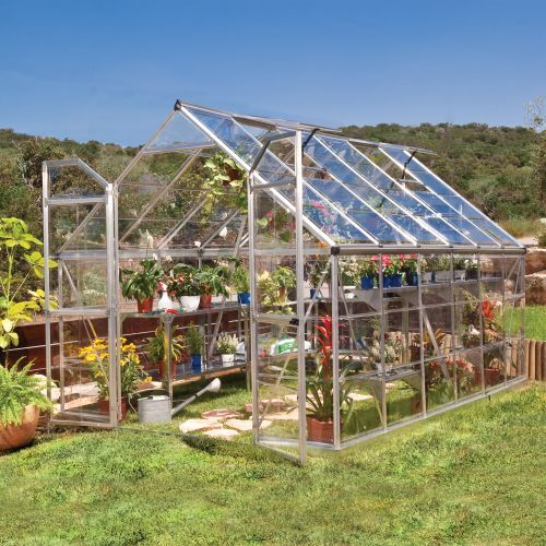 This Is The One Palram Build Grow 8 Ft X 12 Ft Clear Greenhouse Serre Jardin Serre Bricolage Maison Verte