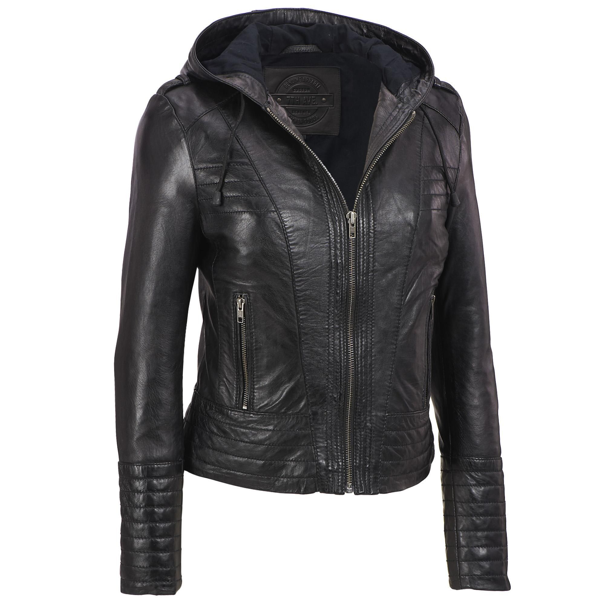 Milwaukee Leather 7th Avenue Lamb Cycle Jacket w/Hood Was