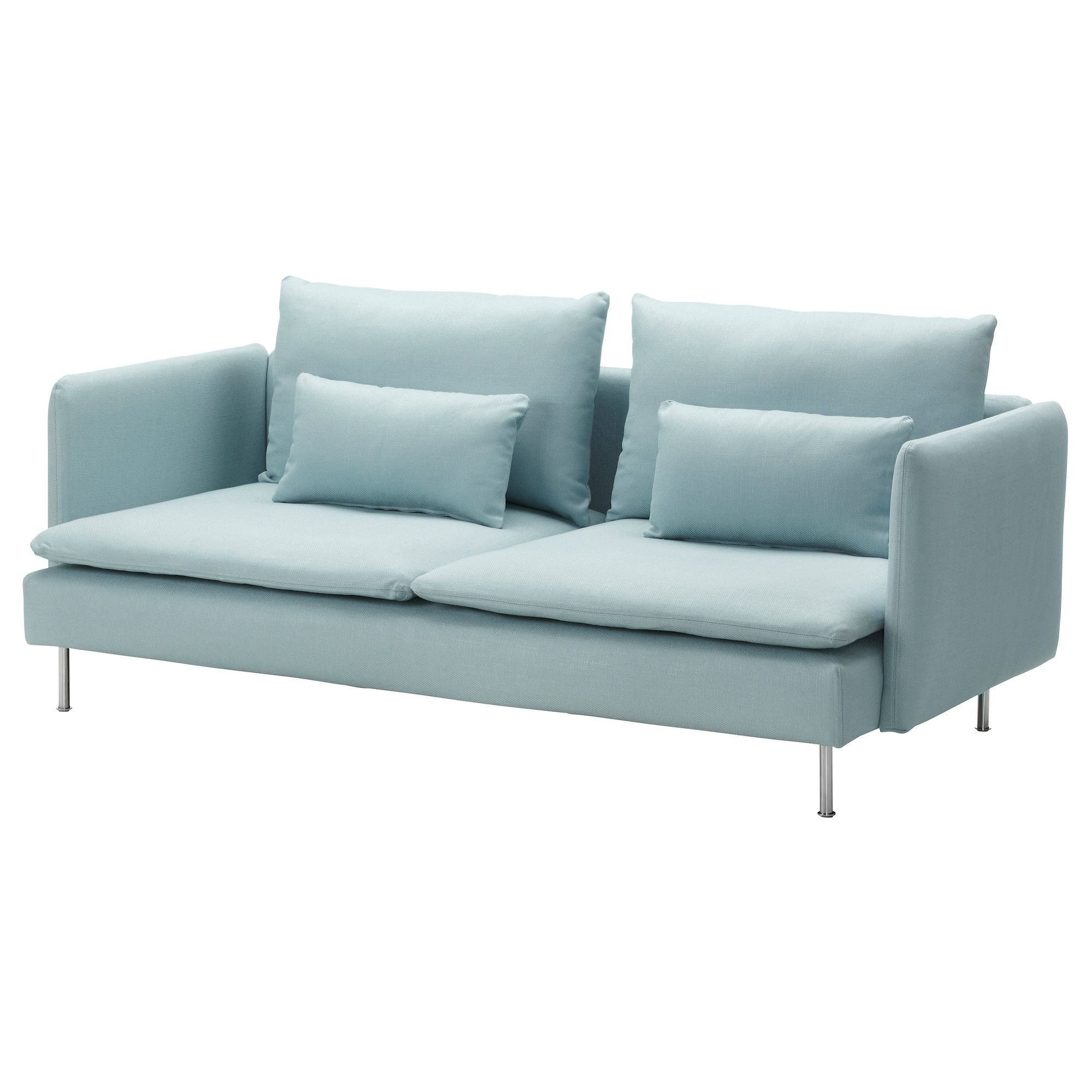 Bettsofas Ikea Schweiz SÖderhamn Three Seat Sofa Isefall Light Turquoise Ikea