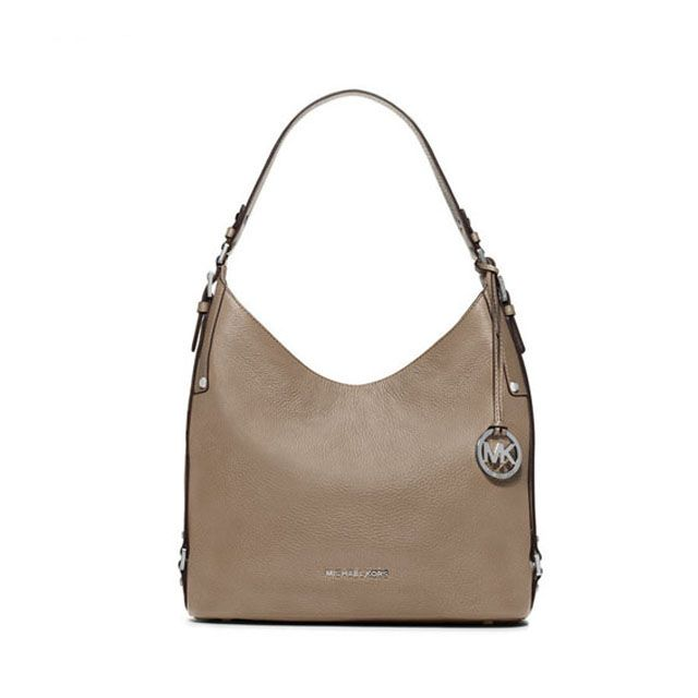 2308f209d3dc Michael Kors Lena Large Leather Shoulder Bag Khaki