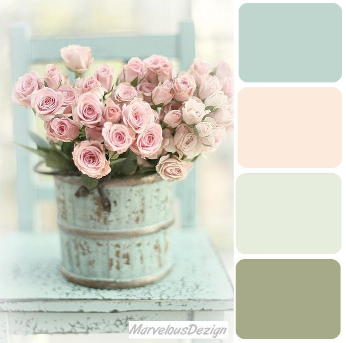 Shabby Chic Colour Pallet, pale blues, rose pinks and greys. | home ...