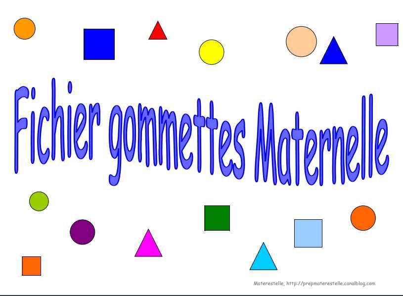De bonnes idées avec des gommettes   graphisme maternelle ...