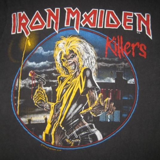 91fcaf9a3a vintage IRON MAIDEN 1981 KILLERS PROMO T-Shirt 80s original | band ...