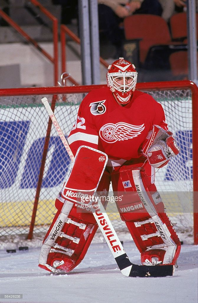 Canadian Professional Hockey Player Tim Cheveldae Goalie For The Red Picture Id56426238 671 1024 Hockey Goalie Hockey Posters Goalie