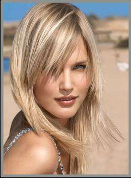 coupe cheveux mi long blond raide