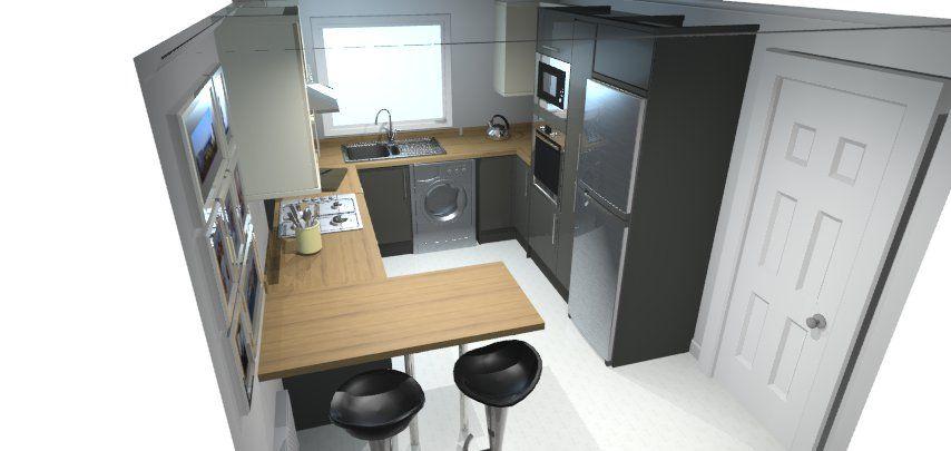 Best Designed My New Kitchen On B Q Spaces Santini Antracite 400 x 300