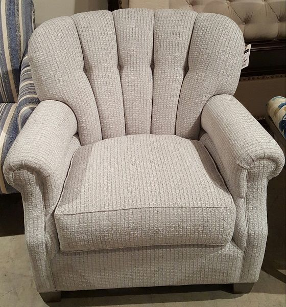 436 Chair By Burton James Brio Silverman Fabric @ Heritage Furniture Outlet