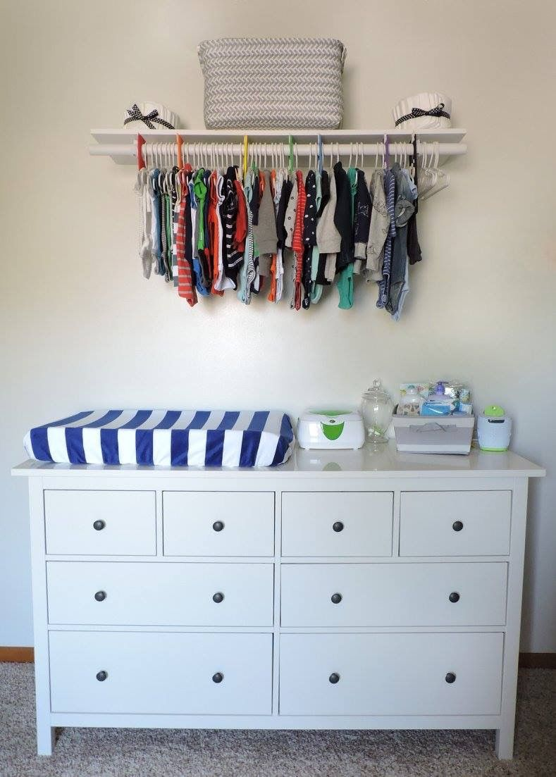 No closet space no problem a diy exposed closet works - Room with no closet ...