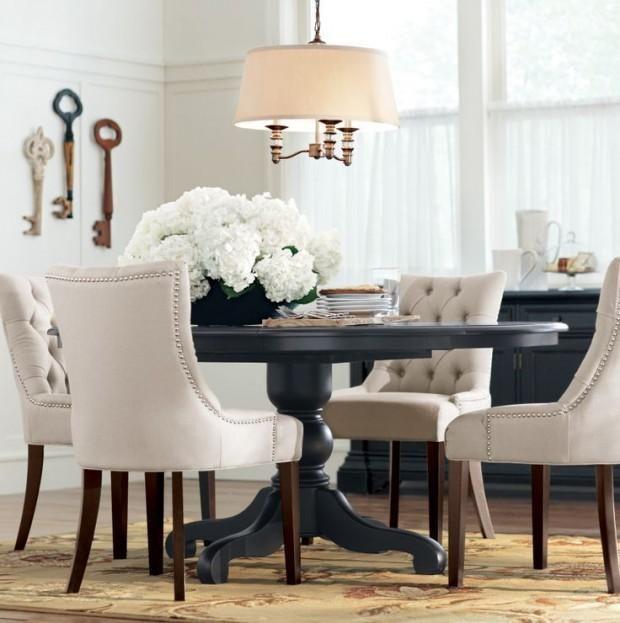 Mesas redondas de comedor comedores circle dining for Mesa de comedor elegante lamentable