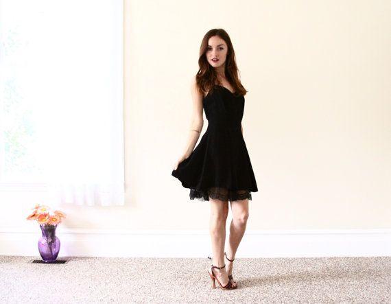 little black dress /  black cocktail dress  by aLaPlageVintage, $66.00