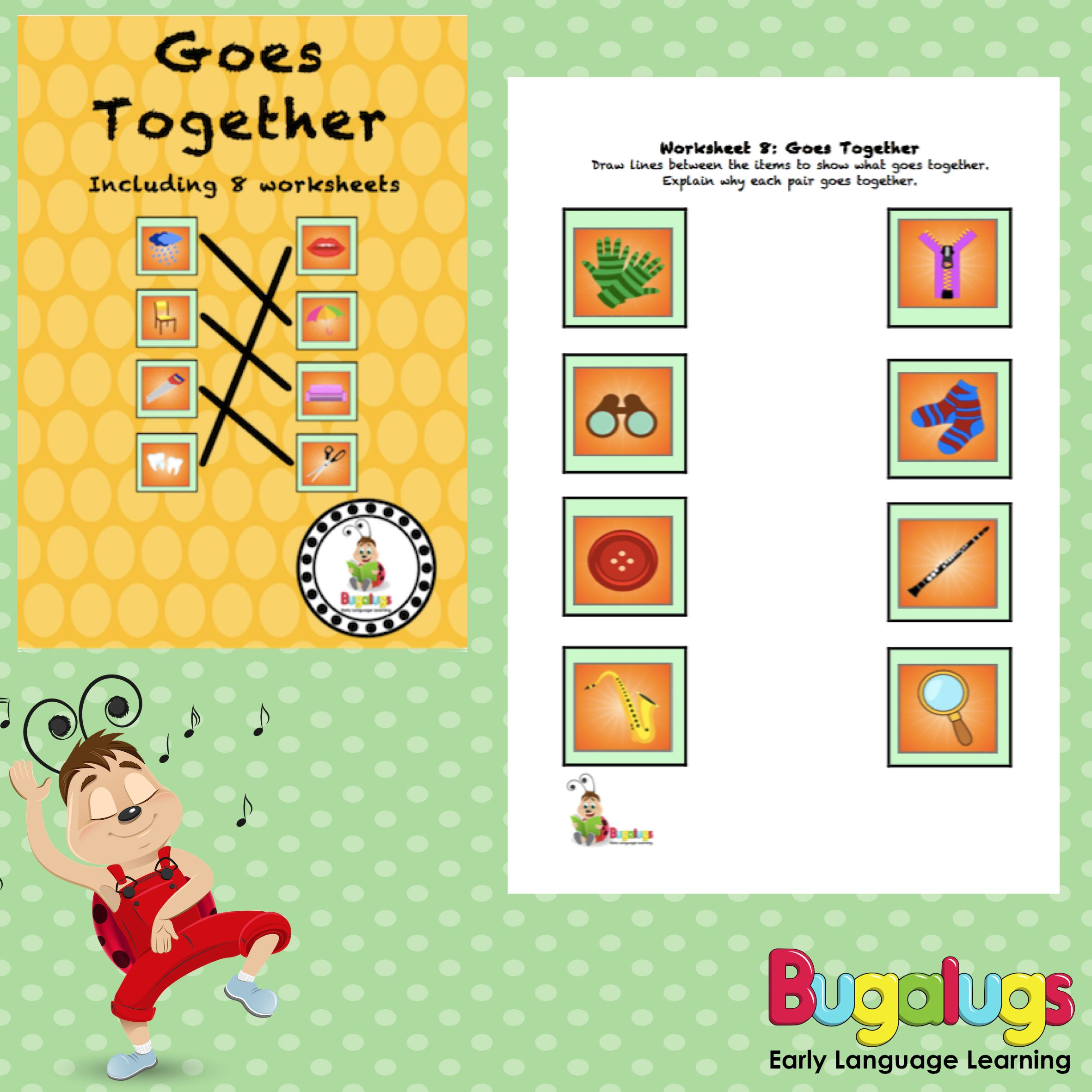 Goes Together Semantic Worksheets This Package Contains 8 Worksheets To Be Completed