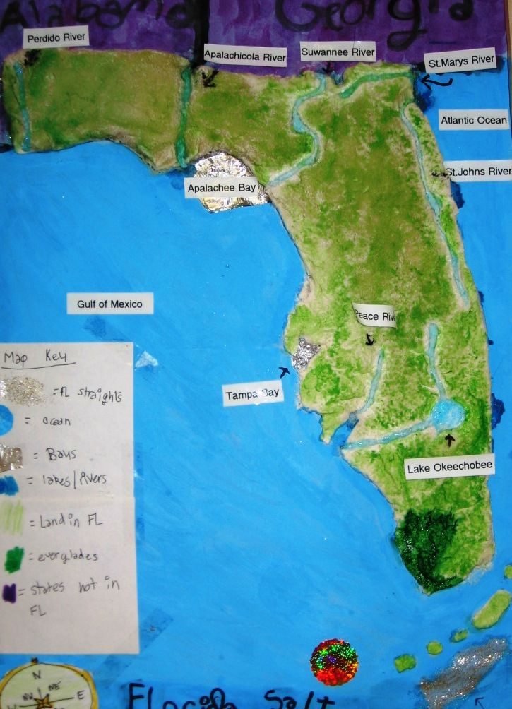 salt dough maps | Thanks to the 4th graders and the 4th grade ...