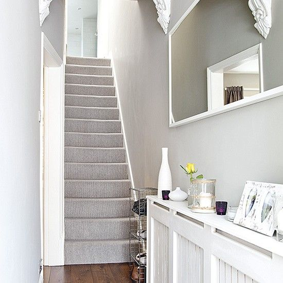 Best Grey Traditional Hallway With Laminate Flooring Tiled 640 x 480