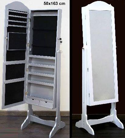 Espejo joyero de pie blanco foto interior de espejo for Espejo joyero casa