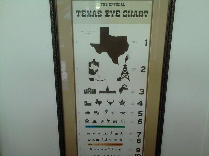 Lol Now That S An Eye Chart Texas Eye Chart Eye Chart