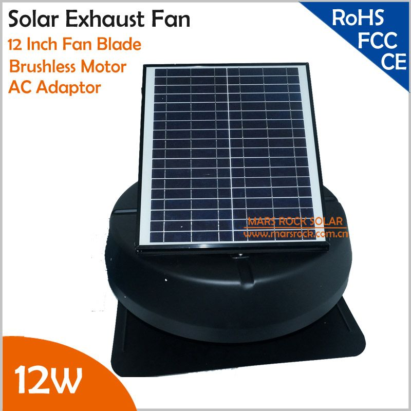 12w Adjustable Solar Panel Brushless Motor Solar Exhaust Fan Matched Ac Adaptor In Alternative Energy Generators From Home I Exhaust Fan Solar Panels Exhausted