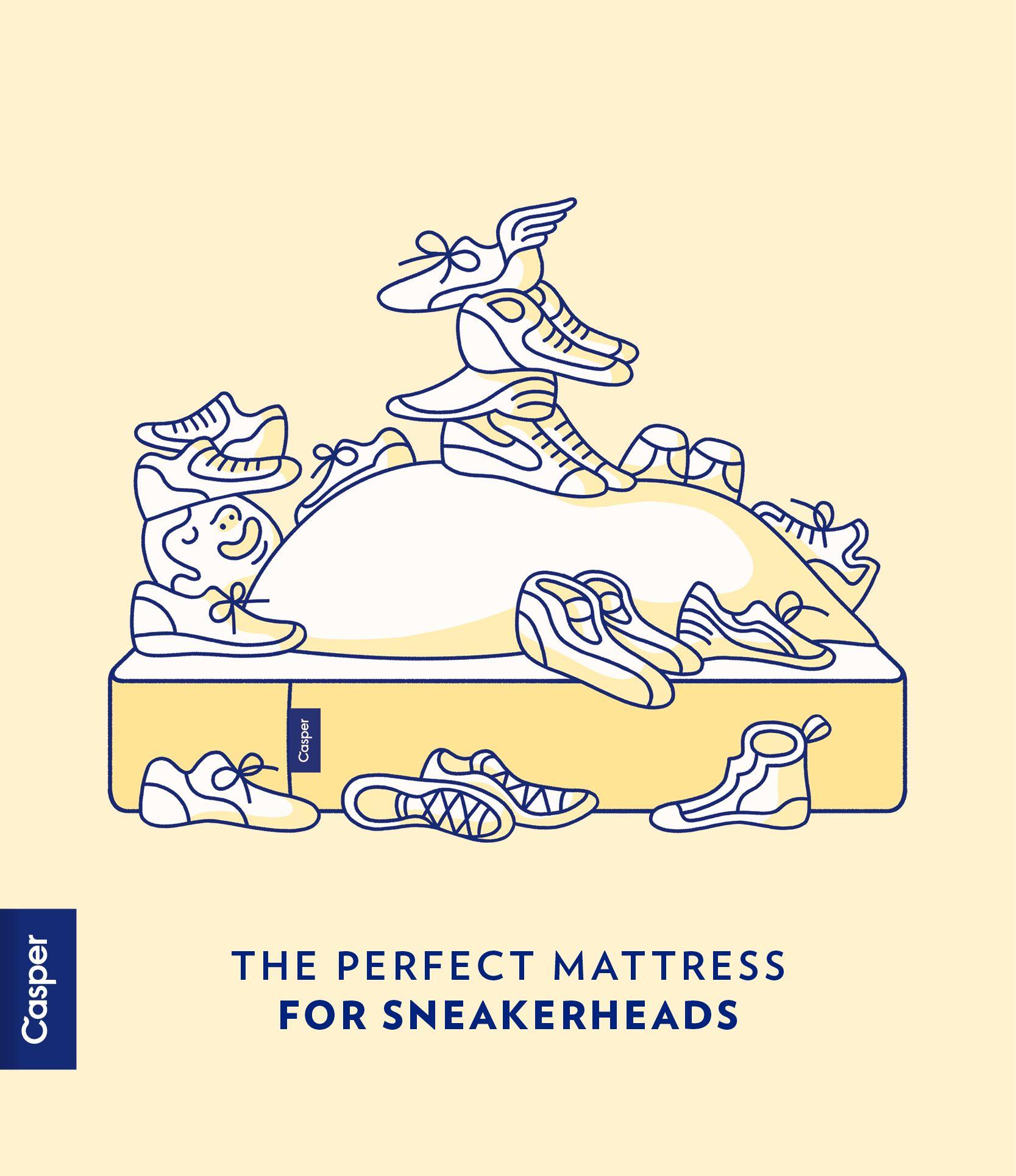 Casper the perfect mattress for sneakerheads. Creative