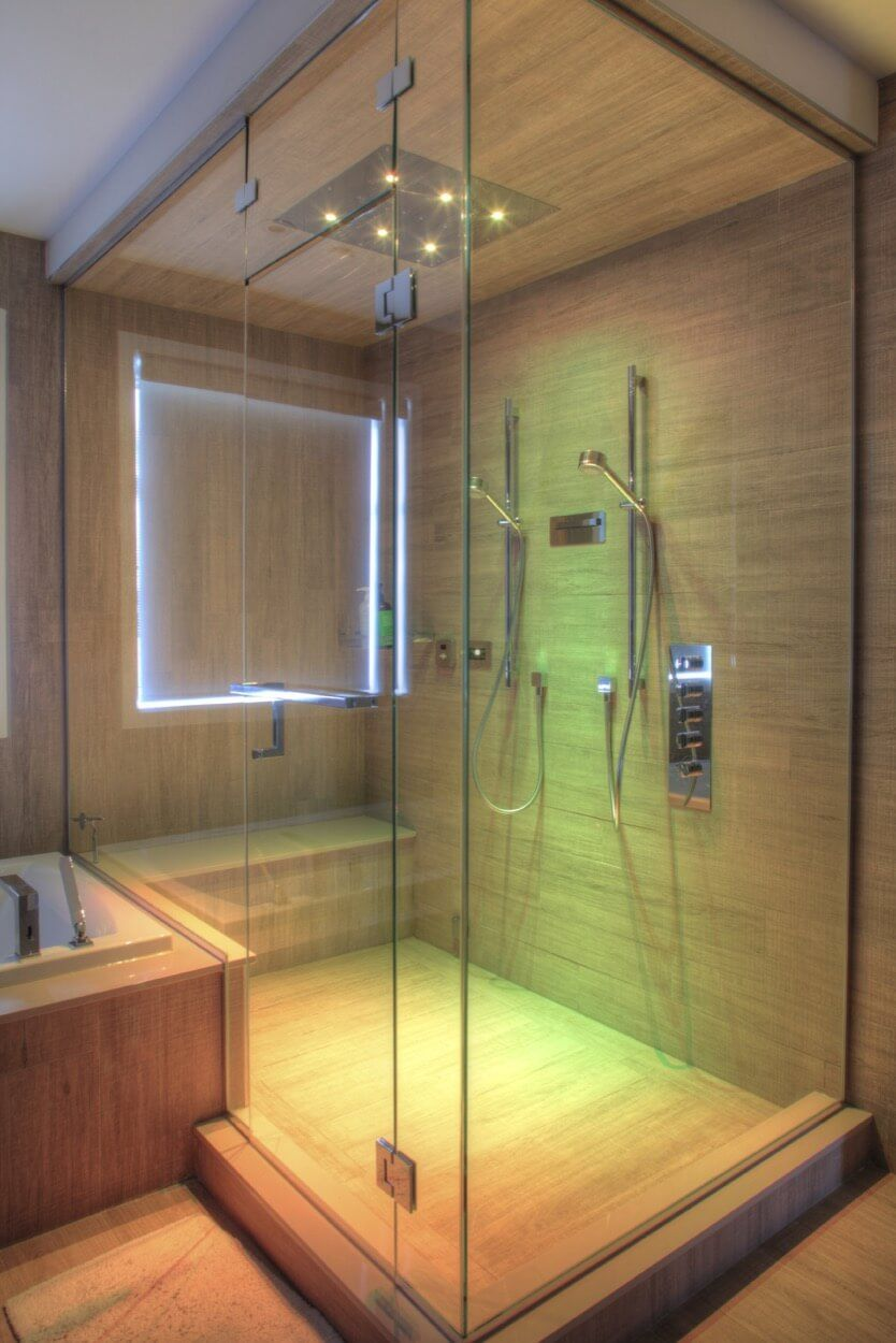 Two Person Shower With Lighting Effects | Bathroom Ideas | Pinterest ...