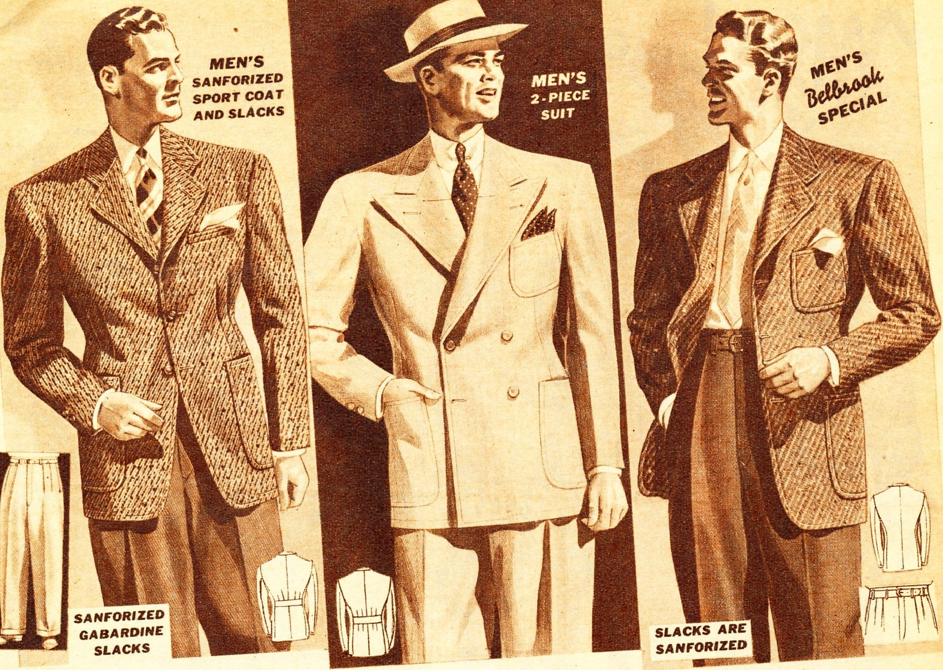 Mens 1940s dress styles
