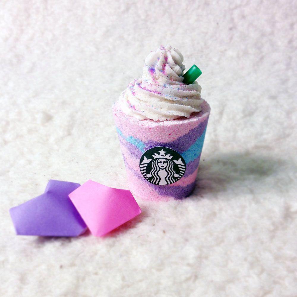 Unicorn Fruity Starbucks Frappuccino Bath Bomb Gift