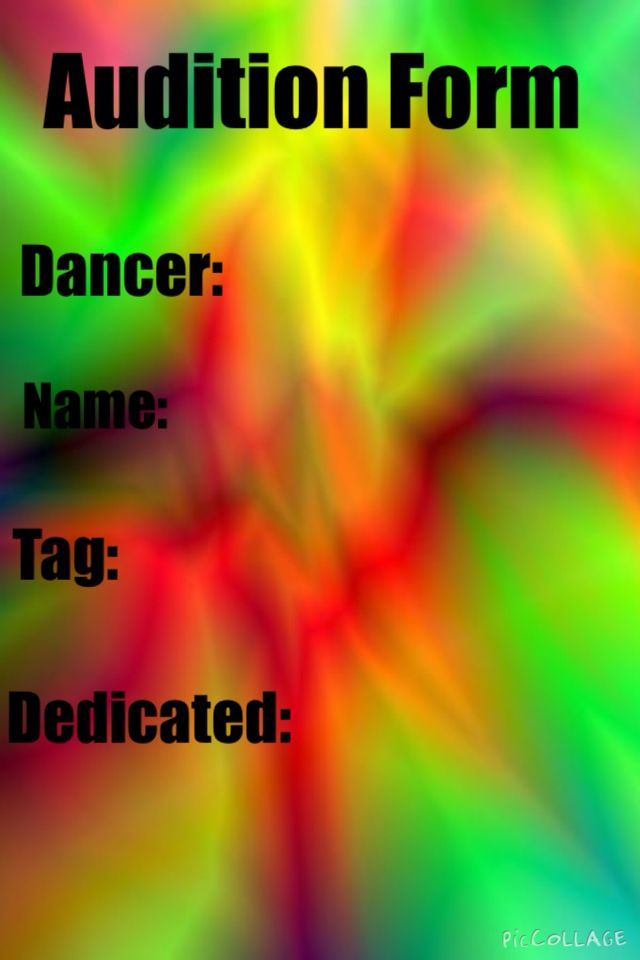 Hereu0027s the audition form Dancemommers! Pinterest The ou0027jays - audition form