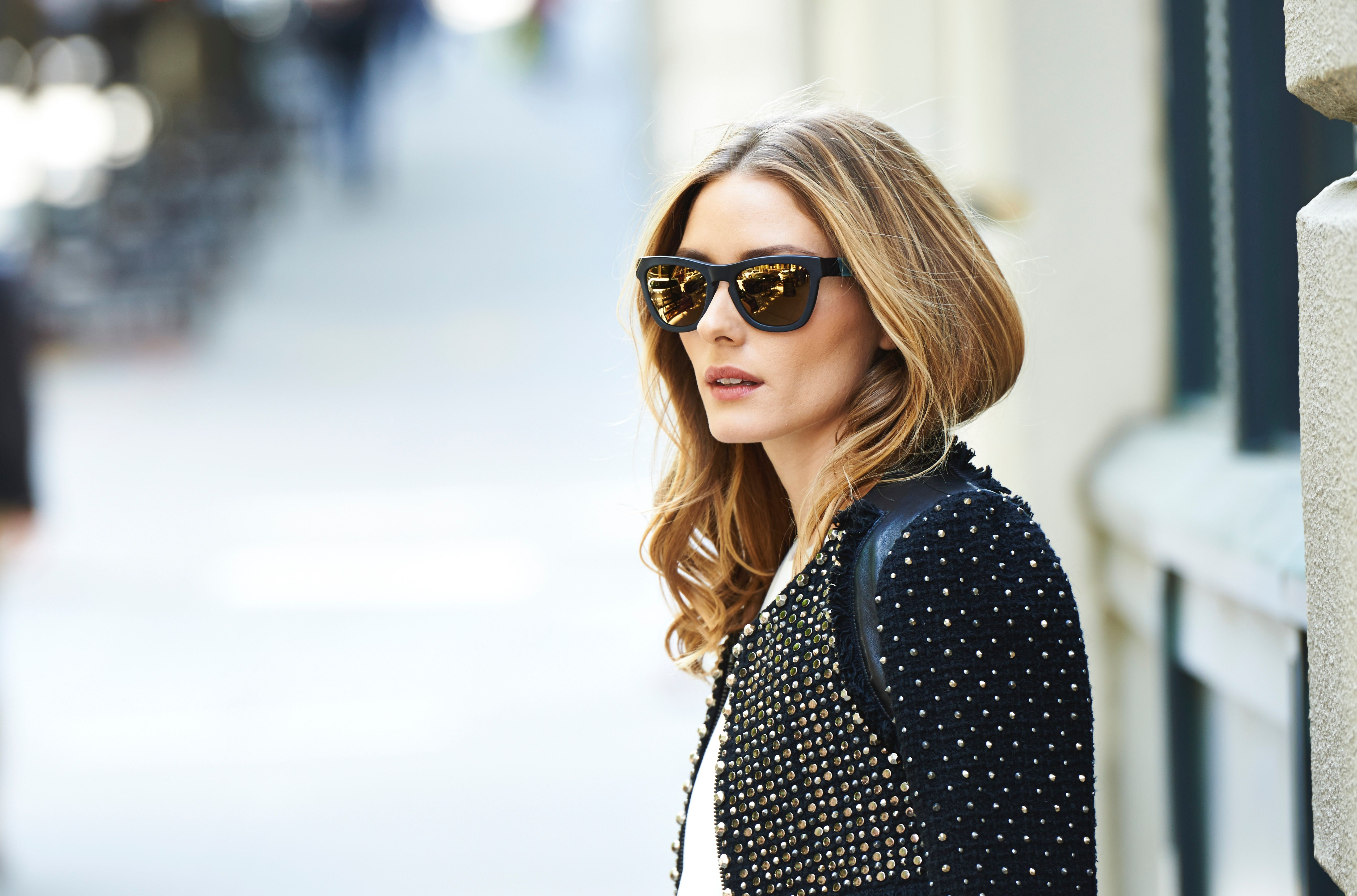 The classic Wayfarer shape of each frame holds a unisex appeal to all wearers. Shop the look from the OliviaPalermo.com x Westward Leaning collection.