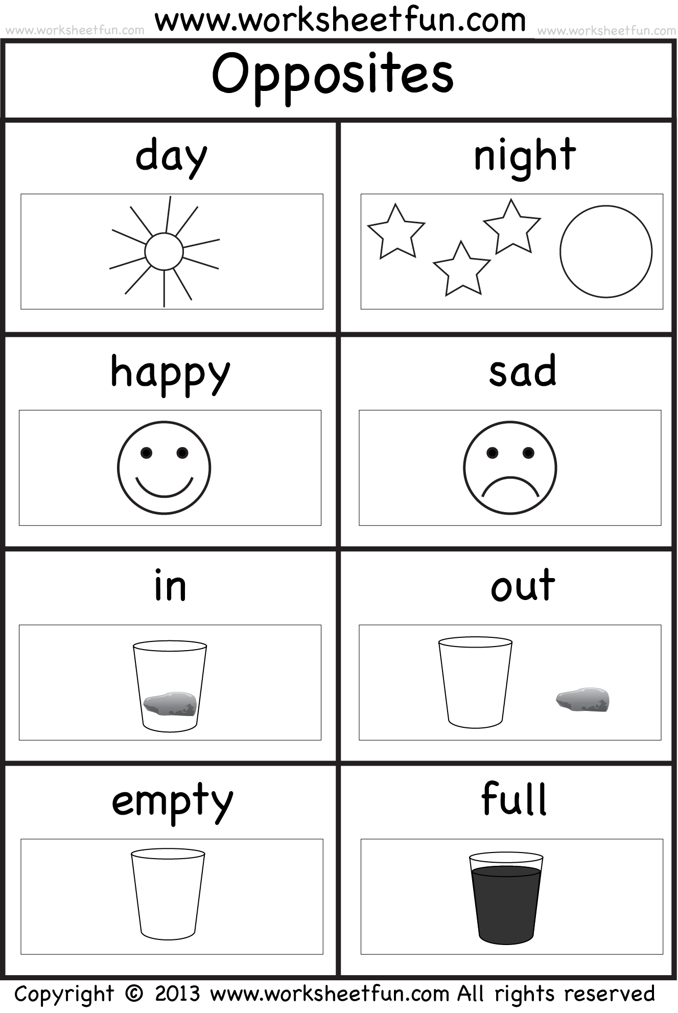 Worksheets Opposite Words For Kindergarten Students 1000 images about teaching opposites on pinterest opposite words list of and kindergarten worksheets