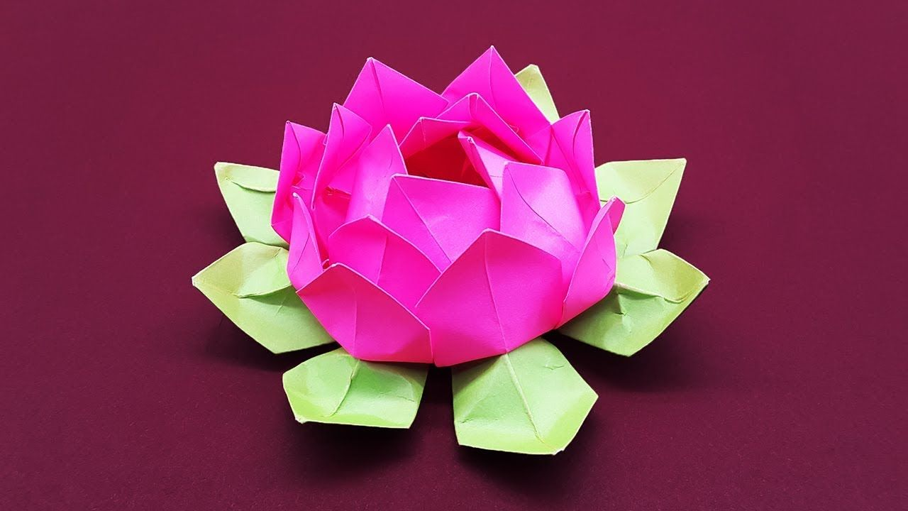DIY Paper Flower Tutorial step by step  Beautiful Origami Lotus