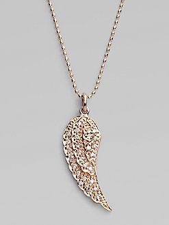 869699ead0180 Sydney Evan - Diamond   14K Rose Gold Wing Necklace