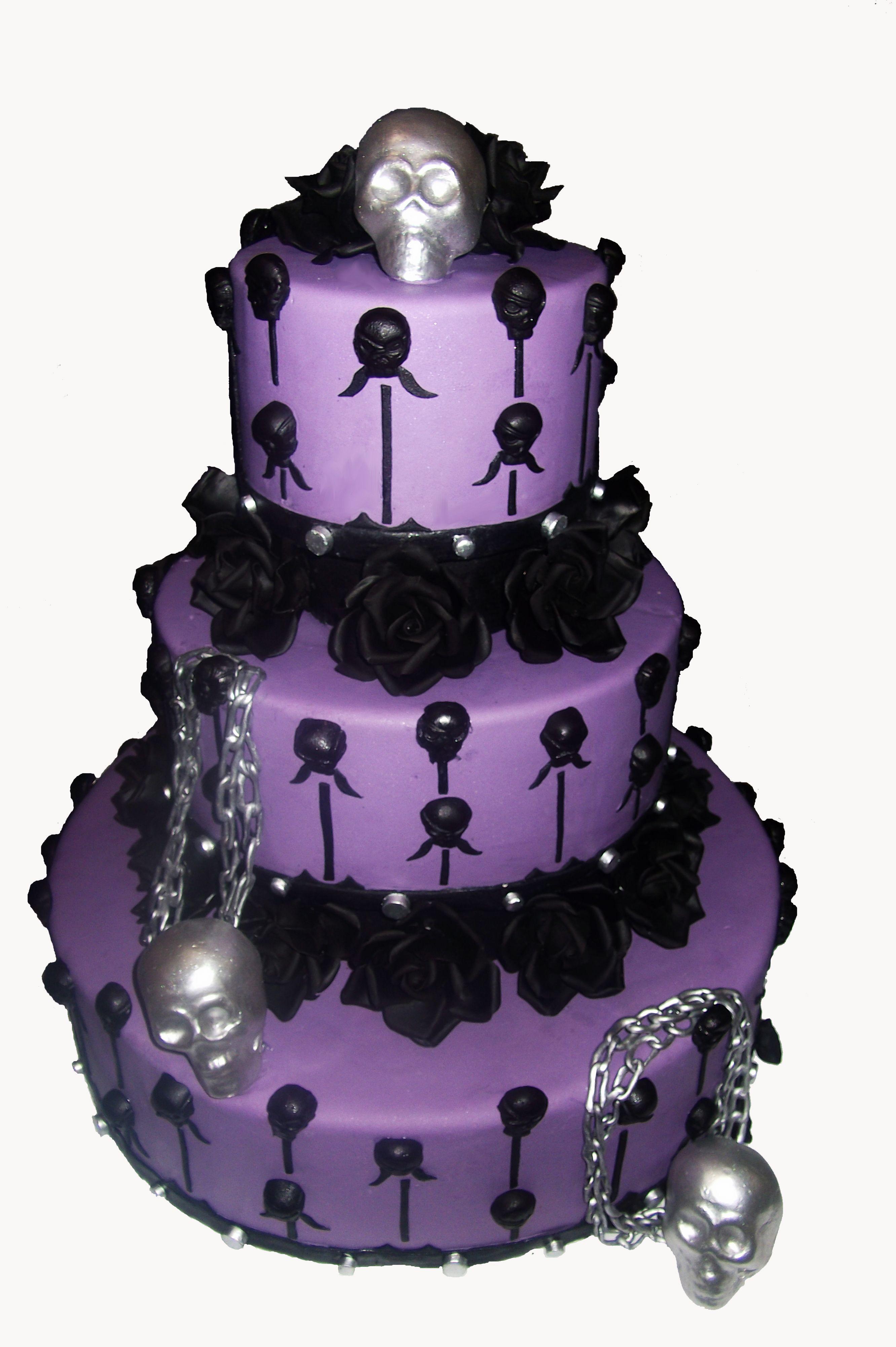 Halloween wedding cake! | Wedding Cakes | Pinterest | Halloween ...